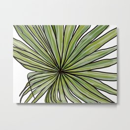 Digital Water Color Palm Frond Design Metal Print