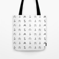 pirates Tote Bags featuring Pirates by very giorgious