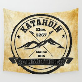 Katahdin Summit Trek Wall Tapestry
