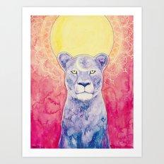Cosmic Lioness Art Print