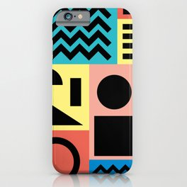 Neo Memphis Pattern 1 - Abstract Geometric / 80s-90s Retro iPhone Case