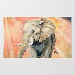 Mom and Baby Elephant Rug