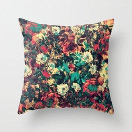 RPE FLORAL V Throw Pillow