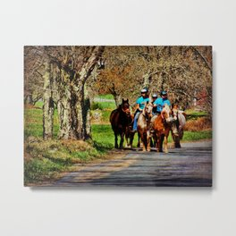 Horses Going Home Metal Print