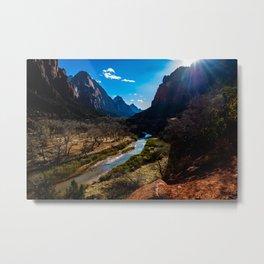 Winter in Zion National Park. Utah. USA Metal Print