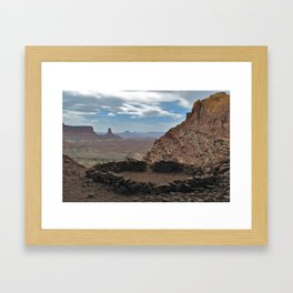 False Kiva, Canyonlands National Park Framed Art Print