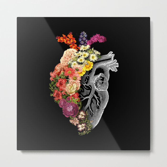 Flower Heart Spring Metal Print