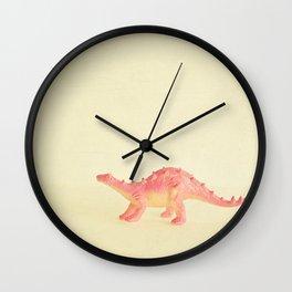 Pink Dinosaur Wall Clock