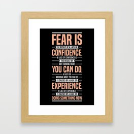 Lab No. 4 Fear Is The Result Dale Carnegie Inspirational Quotes Framed Art Print