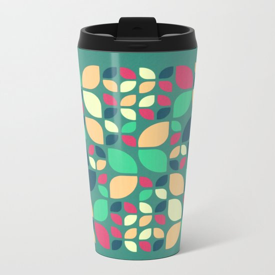 Vintage Spring Pattern II Metal Travel Mug