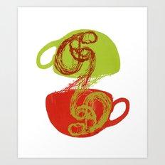 Coffee and tea time Art Print