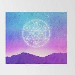 Sacred Geometry (Metatron) Throw Blanket