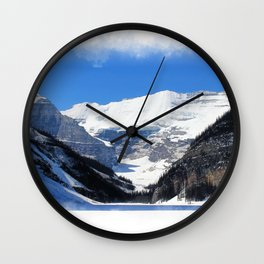 Lake Louise in Banff National Park Wall Clock
