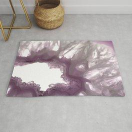 Dusky purple Cystals Rug