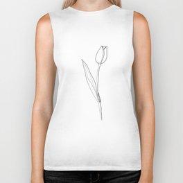 """Botanical Collection"" - Tulip Flower Print Biker Tank"