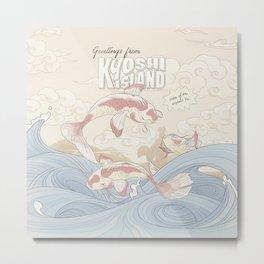 Kyoshi Island Vintage Travel Poster Metal Print