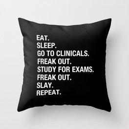 Clinical, Nursing Student, Med Student, Funny Nurses Throw Pillow