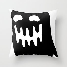 Dripping Ghost Throw Pillow