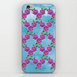 Purple Flowers Pattern iPhone Skin
