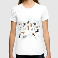 dogs T-shirts featuring Raining Cats & Dogs by Anne Was Here