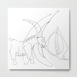 Capricorn Projection Metal Print
