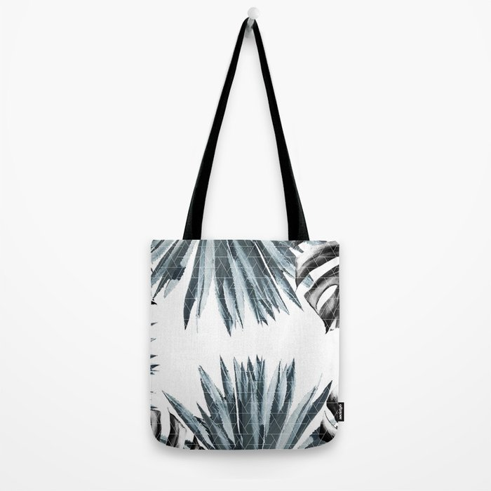 Geometric agave & monstera Tote Bag