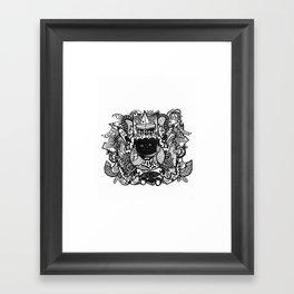 30 Framed Art Print