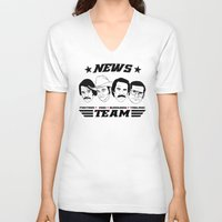 anchorman V-neck T-shirts featuring news team - the anchorman by Buby87