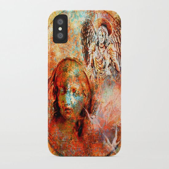 The annonciation of the archangel Gabriel to the Virgin Mary iPhone Case
