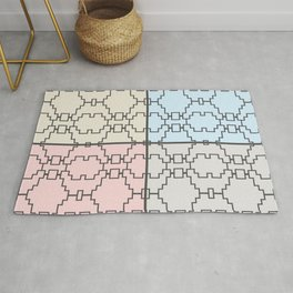 Abstract geometric pattern pastel colours Rug