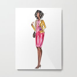 Aunt Boss Lady Fashionista Metal Print