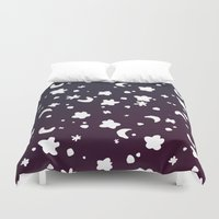 starry night Duvet Covers featuring Starry Night by Oh Monday
