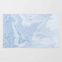 Marble suminagashi pastel blue minimal marbling spilled ink japanese decor Rug