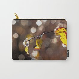 in ICE - frozen leaves at sparkling backlight Carry-All Pouch