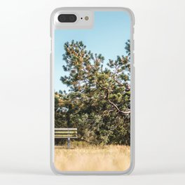 She daydreamed of surreal worlds and they vanished into matter. Clear iPhone Case