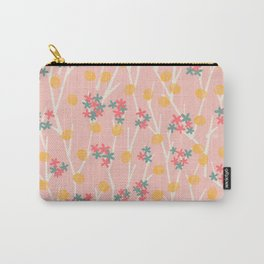 Tiny Flowers on the Twigs <sweet pink> Carry-All Pouch