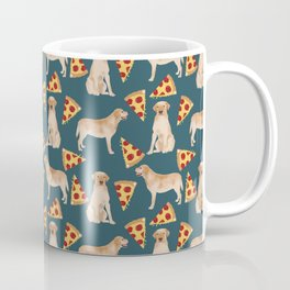 Yellow Labrador pizza cheesy slice of pizza food trendy pet gifts for yellow lab owners dog breed Coffee Mug