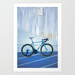 Ritte Ace Tricolor Blue Art Print
