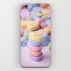 I Love You - Candy Hearts iPhone & iPod Skin