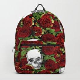 Vintage Skulls and Roses Backpack