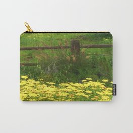 Daisies and Plumes at the Split Rail Fence Carry-All Pouch