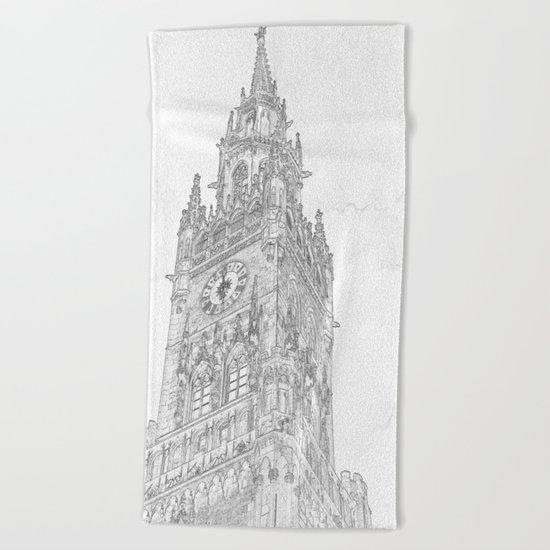 Tower of Big Ben Beach Towel