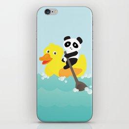 Row, row, row your duck iPhone Skin