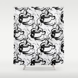 Java Love 2B by Kathy Morton Stanion Shower Curtain