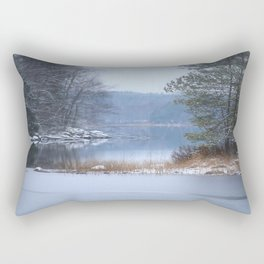 Blue Moment By The Lake Rectangular Pillow