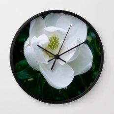 Magnolia Flower Wall Clock