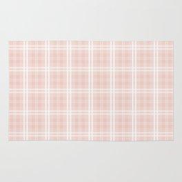 Spring 2017 Designer Color Pale Pink Dogwood Tartan Plaid Check Rug
