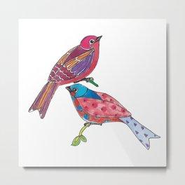 Birds of a Colour Metal Print