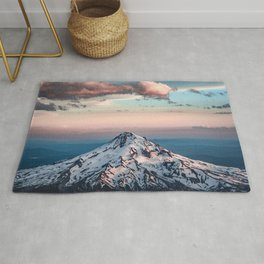 Mountain Sunset - Nature Photography Rug