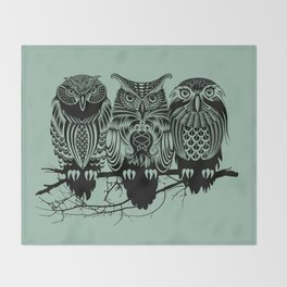 Owls of the Nile Throw Blanket